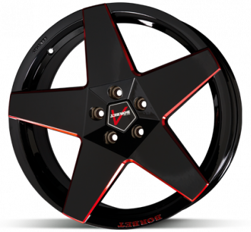 Borbet A Black Red