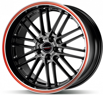 Borbet CW2 Black Red