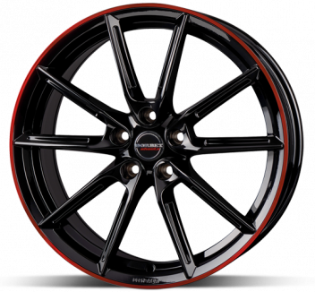 Borbet LX18 Black Red