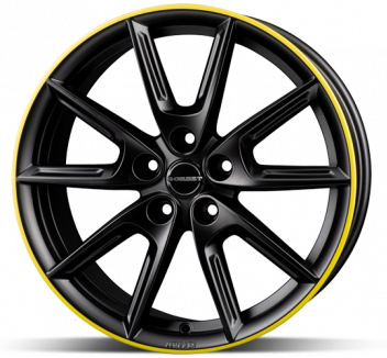 Borbet LX18 Black Yellow